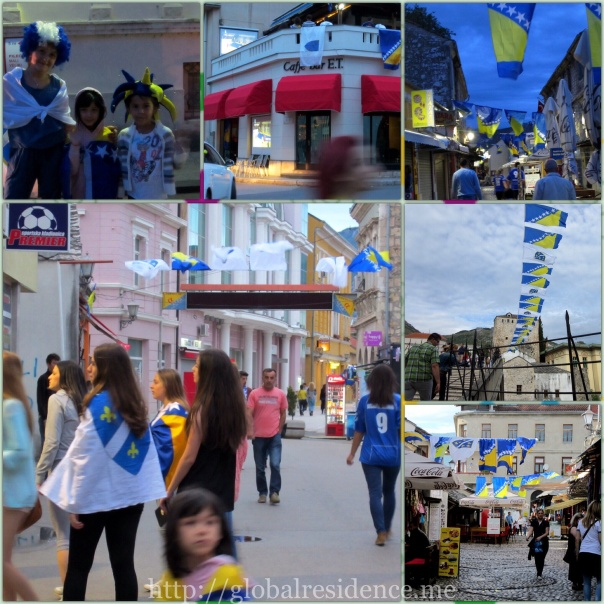 World Cup 2014 in the streets of Bosnia and Herzegovina